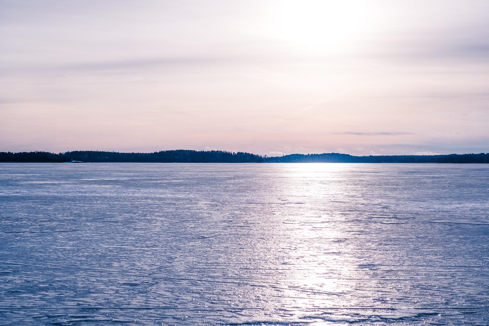 frilufsa på isen i bredsand