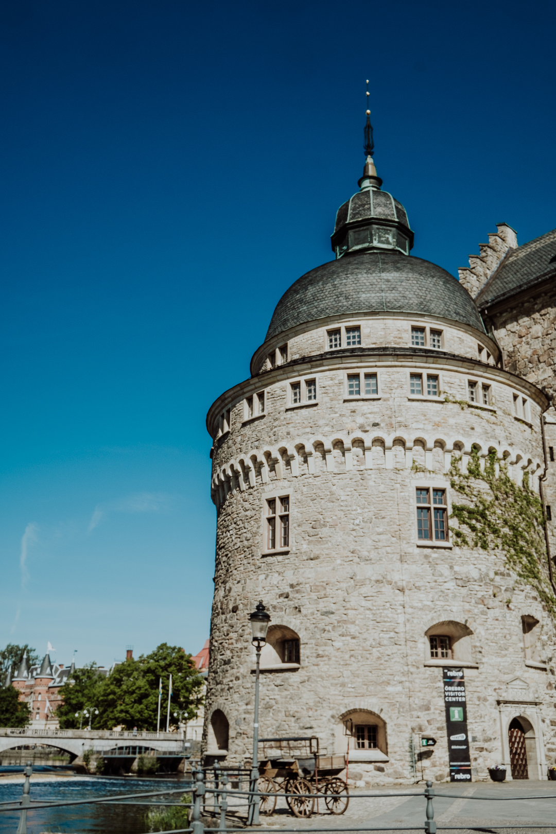 En solig promenad i parken runt Örebro slott